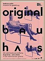 ポスター バウハウス Original frau mit maske 額装品 ウッドベーシックフレーム(オフホワイト)