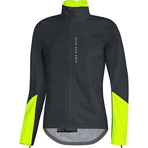 Gore Bike WEAR Women's Cycling Jacket, Gore-TEX Active, POWERLADY Jacket, Size: 40, Black/Neon Yellow, JGTPOL