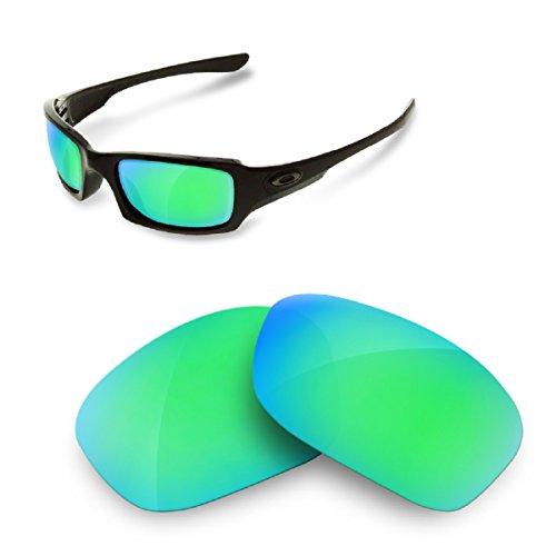 sunglasses restorer Kompatibel Ersatzgläser für Oakley Fives Squared 3.0, Polarisierte Sapphire Green