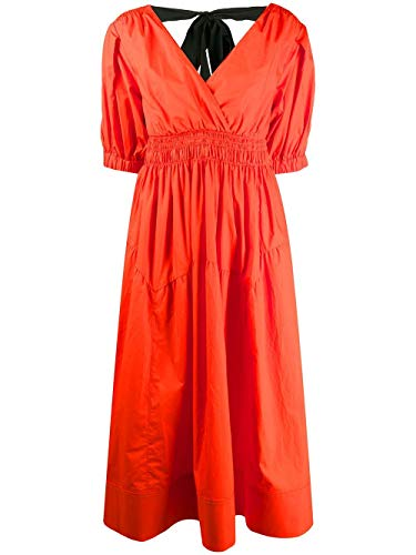 Luxury Fashion | Self-portrait Dames SS20021ORANGE Oranje Viscose Jurken | Lente-zomer 20