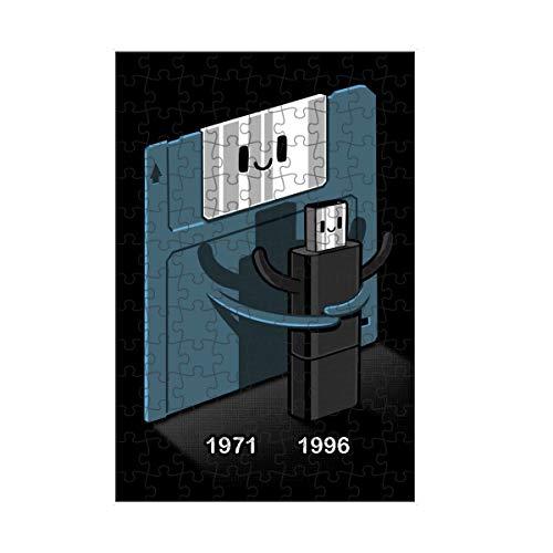 artboxONE Puzzle S 112 Teile Comic Floppy Disk Love Pendrive Puzzle Floppy Disk Floppy Disk Funny
