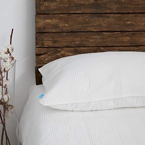 DON ALGODÓN Couvre-lit boutis en Microfibre Blanc 235 x 270 cm