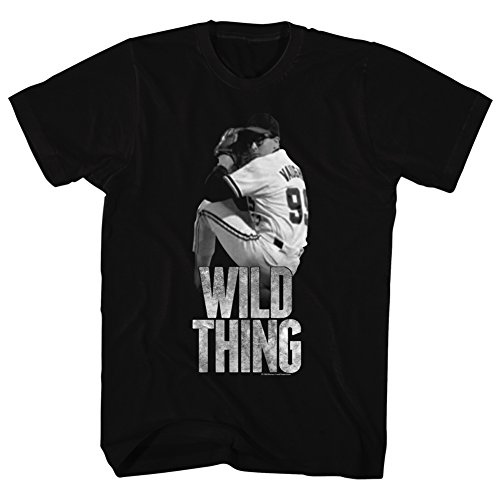 American Classics Major League Sports Comedy Baseball Movie Wild Thing Black Adult T-Shirt Tee