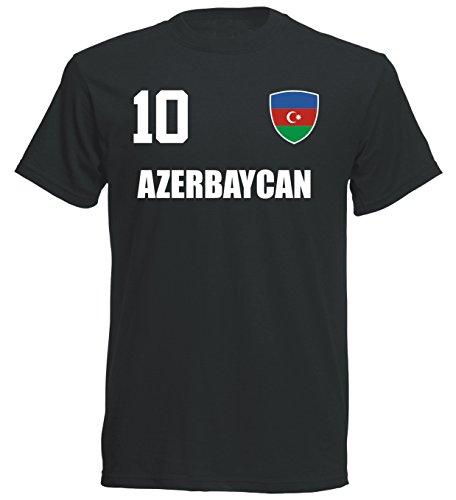 aprom - Aserbaidschan Kinder T-Shirt Trikot ALL-10 SC - WM 2018 Fußball (152)
