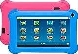 Denver TAQ-70352 BLUEPINK Tablet Quad Core de 7'con KIDO'z y Android 8.1GO. 8 GB de Almacenamiento y 1 GB de RAM, Acceso Completo a Google Playstore. Incluye 2 Fundas: 1 Rosa y 1 Azul.