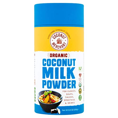 Coconut Merchant Organic Milk Powder 250g | Vegan Milk Powder Alternative for Curries, Soups, Sauces, Smoothies and Drinks | Vegan| Ethically Sourced| Versatile, Drink It, Add it, Stir it|