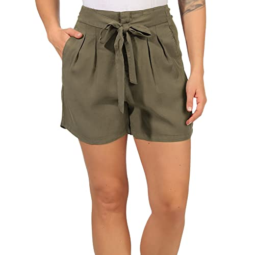VERO MODA Damen Shorts High-Waist Pants VMMia 10209543 Bungee Cord M