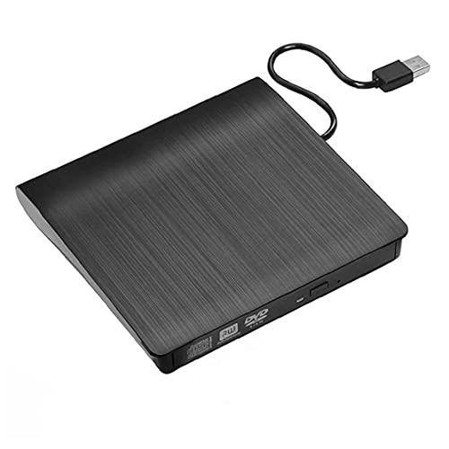 Hainice CD Writer Drive Externo 3.0 DVD Player USB RW CD Drive Drive Reader Player para PC portátil Negro