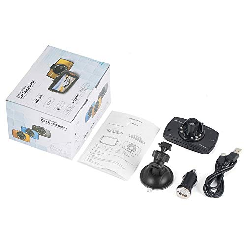 Dash CAM, 1080P Full HD Car DVR Cámara de Tablero 170 ° Gran Angular Grabadora de Video Grabación en Bucle Blackbox para automóvil - Negro