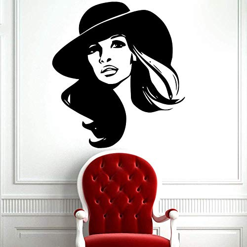 Beauty Lady Vinyl Wall Sticker Fashion Charming Girl Spa Hai
