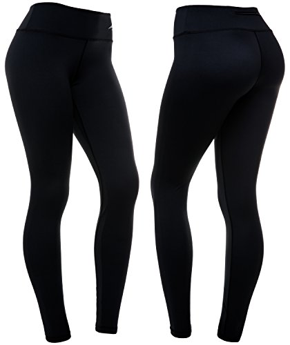 CompressionZ Women's Compression Pants (Black - M) Best Full Leggings Tights for Running, Yoga, Gym