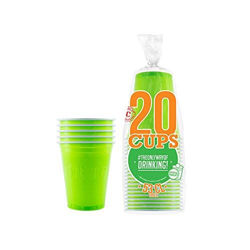 Original Cup – 20 Offizielle Grüne amerikanische Becher -53cl - Waschbar und wiederverwendbar