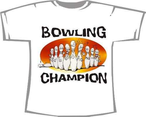 Bowling Champion; T-Shirt weiß, Gr. 4XL; Unisex