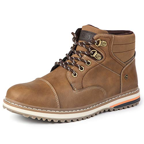 Men's Hiking Boots Anti-Slip Casual Ankle Boot Outdoor Shoes Water Resistant Leather shoe