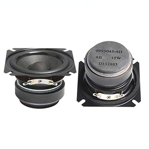 Wnuanjun 2 stücke 2,5 clm Full Range Lautsprecher 4 Ohm 15w HiFi Bluetooth Music Lautsprecher Tragbare Lautsprecher Horn DIY Audio Heimkino (Größe : 2.5