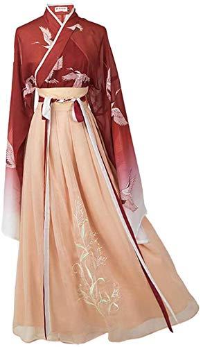 OKZH Hanfu Chino Mujer Disfraces Chinos Antiguos Para Mujer, Tradicional, Retro, Hanfu, Cosplay, Baile, Actuacin, Disfraz, Falda De Hada, Conjunto Completo, Trompeta Uno
