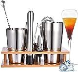 Viugreum Cocktail Set,Edelstahl Cocktail Shaker,Cocktailset,800ML 600ML 11PCS Barkeeper Set,Cocktail Geschenk Set für Zuhause oder die Bar,Cocktail Set Cocktail Set,Edelstahl Cocktail Shaker