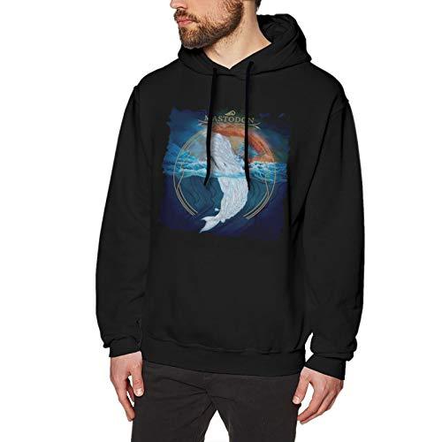 ZhengZhouYinHuan Mastodon Leviathan Hoodie Mens Sweatshirt Long Sleeve Printing Pullover Leisure Sweater Black
