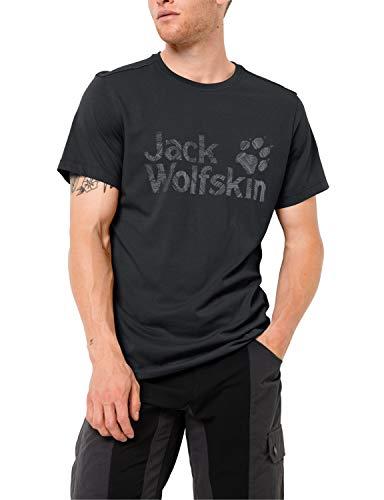 Jack Wolfskin Herren Brand Logo T M Luftiges T-Shirt, Phantom, XXXL