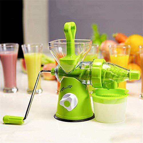 Exprimidor manual de manivela de mano con taza de frutas...