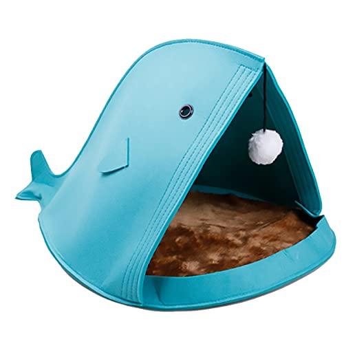 JINGH Perro de la Perrera, la Perrera Plegable Creativa, la Perrera de Gato no Tejida removible y Lavable, tamaño: 40x40x50cm (Color : Blue, Size : 40x40x50cm)