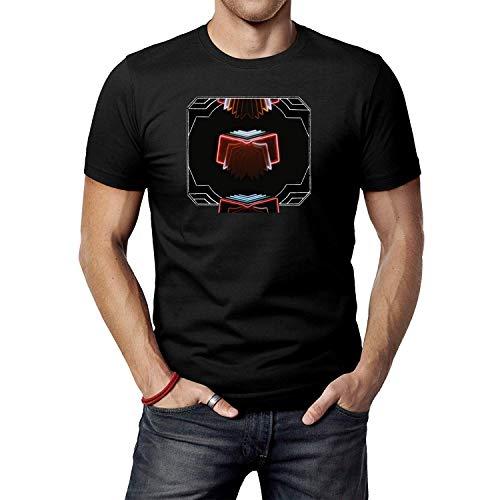 JINFENGT Men's/Herren T-Shirts Arcade Fire Neon Bible T-Shirts Tee Black
