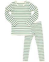 AVAUMA Baby Boys Girls Pajama Set 6M-7T Kids Cute Toddler Snug fit Pjs Cotton Sleepwear (Stripe_Mint XL)