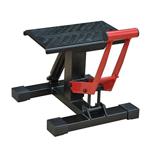 HOMCOM Caballete Elevador Universal Ajustable para Moto Tipo Soporte de Motocross para Aparcar o Reparar Amortiguamiento Carga 150kg Acero