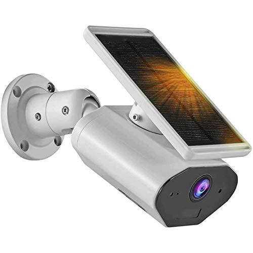 HLSH Cámara IP WiFi, Tuya Smart 1080P Outdoor Solar Powered Bullet Detección De Movimiento De Dos Vías Vigilancia De Seguridad Inalámbrica De Intercomunicación(Size:Camera+16g)