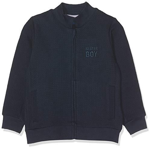 TOM TAILOR Kids Baby-Jungen Sweatjacket Patterned Sweatjacke, Blau (Navy Blazer 3105), 62