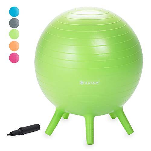 Gaiam Kids Stay-N-Play Children'S Balance Ball - Flexible School Chair, Active Classroom Desk...