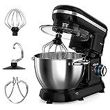 Stand Mixer, ROZI 660W 6-Speed Tilt-Head Food Mixer, Dough Mixer with 4.2-Quart Stainless Steel Bowl, Dough...