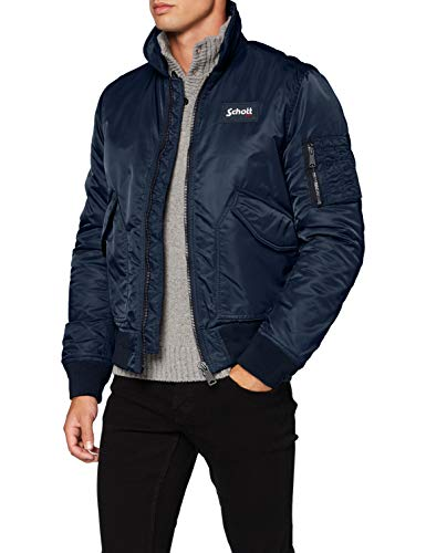 Schott (Brand National) - 210-100, Giacca da uomo, blu (Blue (Navy)), Medium