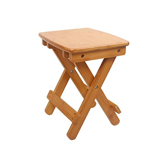 CHOUCHOU Shelves Solid Wood Folding Stool Portable Stool Home Adult Folding Chair Outdoor Small Wooden Bench 35x32.3x25cm Folding chair Flower Pot Rack