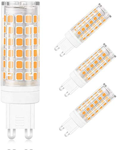 MENGS 4 Pack de Bombilla LED G9 12W Lámpara LED Bombilla Blanco Frío 6000K AC 220-240V, 720LM Equivalente a 95W Con Ceramics + PC
