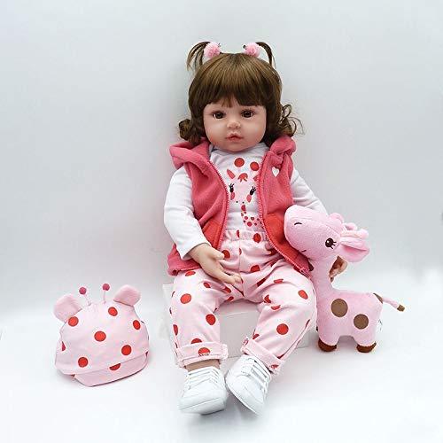 Nicery Reborn Baby Doll Baby-Puppe Weich Simulation Silikon Vinyl 18 Zoll 45 cm Magnetisch Mund Lifelike lebensecht lebhaft für 3 Jahre alt 3+ Vivid Boy Girl Junge Mädchen Spielzeug SH45C258W
