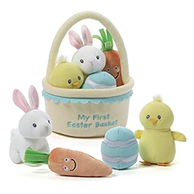 Baby GUND My First Easter Basket Playset Stuffed Plush, 5 pieces