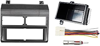 Custom Install Parts Black Complete Single Din Dash Kit + Pocket Kit + Wire Harness + Antenna Adapter Compatible with Select 1988-1996 Chevrolet & GMC Models