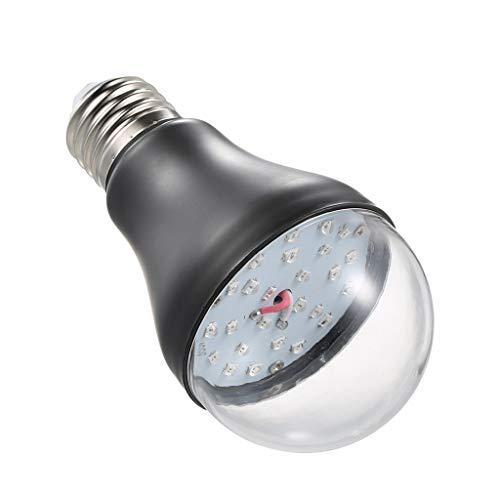 Professionelle UV-Glühbirne, A19 LED-Schwarzlichtlampe, 7 W / E27 / 365 nm Ultraviolett / AC100V-240 V, zur Sterilisation, die Insekten anzieht,A