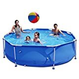 """PIAOMTIEE 12' x 30"""" Swimming Pools Above Ground, Metal Frame Pool 12 FT for Backyard, Outdoor Summer Fun, Blue"""