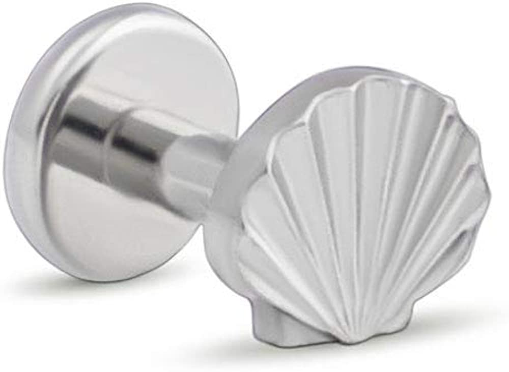Painful Pleasures Titanium Top with Seashell Design — Internal 1.2mm