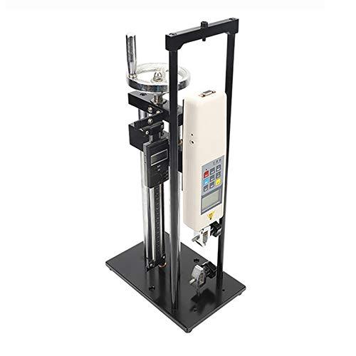 isunking Máquina de Prueba de Tracción de Presión de Soporte de Prueba de Medidor de Fuerza Digital en Espiral Vertical con Escala de Pantalla Digital (con Escala, con Medidor 500N)