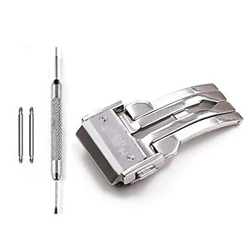 Dバックル ケプロと互換性あり 尾錠 22mm シリコンウォッチストラップ/レザー時計ベルト対応