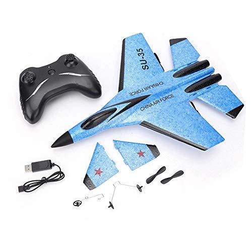 Control Remoto Planeador RC Aviones FX820 2.4G Aviones Teledirigidos con Ala Fija, Eléctrica RC Plane Aviones de Juguete para Niños/Adultos, Fácil de Volar para Principiantes(Azul)
