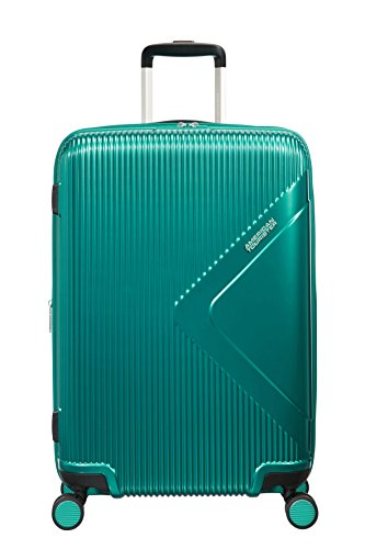 American Tourister Modern Dream Spinner Espandibile Valigia, 68.5 cm, 81 L, Verde (Emerald Green)