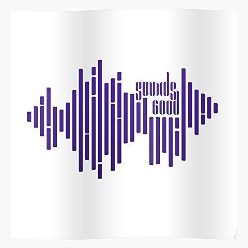 Sconosciuto Sounds Elegant Equilizer Good Sound Wave Design Home Decor Wall Art Print Poster !