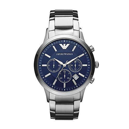 Emporio Armani Reloj Cronógrafo para Hombre de Cuarzo con Correa en Acero Inoxidable AR2448