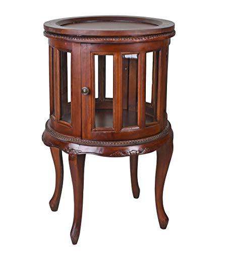 Barschrank Mahagoni rund Hausbar Weinschrank Vitrine Beistelltisch & Tablett lup016 Palazzo Exklusiv