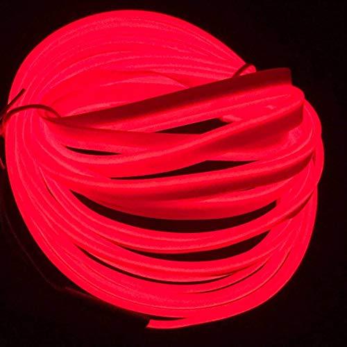 5M / 16FT EL Draht, Neonlicht DIY Dekoration Glowing EL Seil mit USB Inverter für Parteien Weihnachten Cosplay Kostüm(Rot)