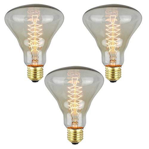 Edison LED Ampoule 2700K E27 Socket lumière pendante YWXR Blanc Chaud 40W Jardin Saint Valentin Décoration Maison Mariage Intérieure Festival antique Filament doux Éclairage dans Rétro lustre,3